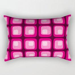60s Mod Squares Rectangular Pillow