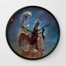 Pillars of Creation- NASA Hubble Telescope Image Wall Clock