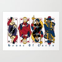 house of cards Art Prints featuring House of Cards by Crystal Yates