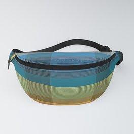 check striped multicolour Fanny Pack