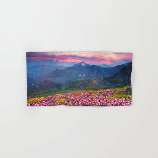 Blooming mountains Hand & Bath Towel