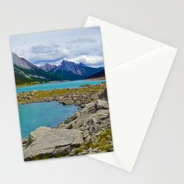 Medicine Lake in the Maligne Valley of Jasper National Park, Canada Stationery Cards