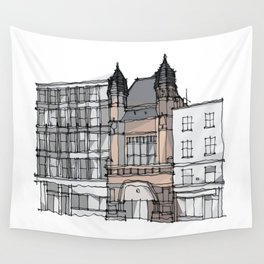 Bishopsgate Institute London by Charles Townsend Wall Tapestry