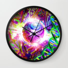 Harnessing the Power of Bass (Bassnectar Art) Wall Clock