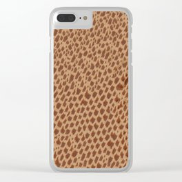 Animal Print Giraffe Clear iPhone Case