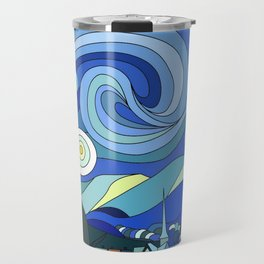 Tardis Art Starry Night Travel Mug