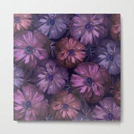 Pink and violet poppies Metal Print