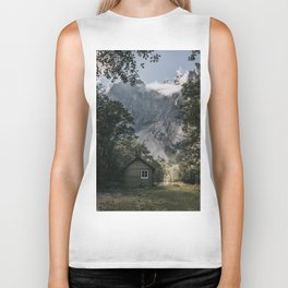 Mountain Cabin - Landscape and Nature Photography Biker Tank