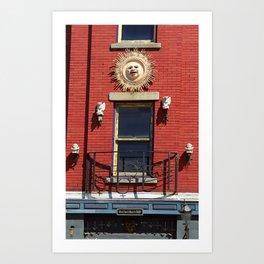 Auburn, NY - Gargoyles and Balcony 2005 Art Print