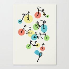 Riding Bubbles Canvas Print