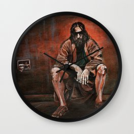 "The Dude, ""You pissed on my rug!"" Wall Clock"