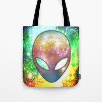 alien Tote Bags featuring Alien by Spooky Dooky