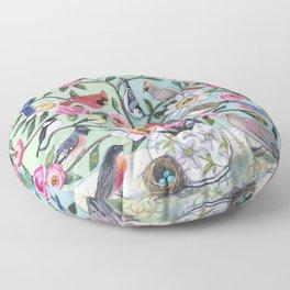 Bird Vines Floor Pillow