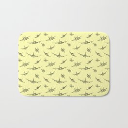 Airplanes on Yellow Bath Mat