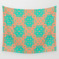 southwest Wall Tapestries featuring Southwest Summer by Lisa Argyropoulos