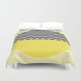 Moiety Yellow Duvet Cover