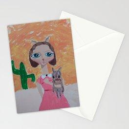 ~ Javelina ~ 10 Year Old Amelia's Arizona Critter Girl Stationery Cards