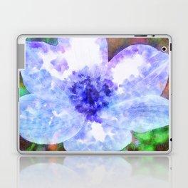 Blue Anemone Watercolor Laptop & iPad Skin