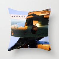 plane Throw Pillows featuring Plane by Luc Girouard
