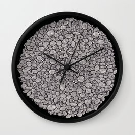 Black and white abstract Wall Clock