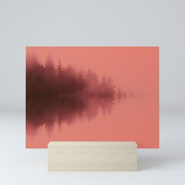 Misty Reflections in Living_Coral Mini Art Print