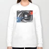 aperture Long Sleeve T-shirts featuring Abstract Camera Lens by Phil Perkins