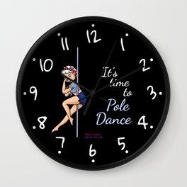 Pole Dance_dark Wall Clock