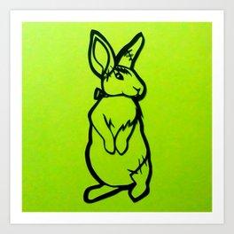 Frankenstein's Bunny Art Print