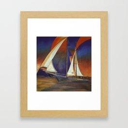 Gulet Under Sail Framed Art Print