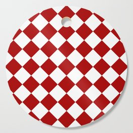 Red and white square pattern Cutting Board