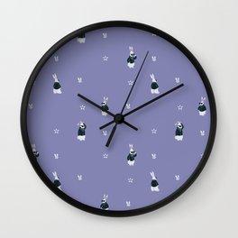 Tough Bunny pattern Wall Clock