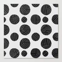 polka Canvas Prints featuring polka by spinL
