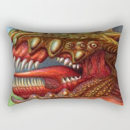Dragon Head - ballpoint pen Rectangular Pillow