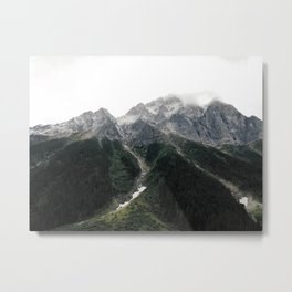 Alberta Misty Mountains Metal Print