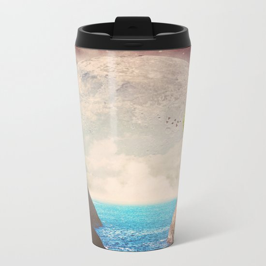 Where the moon meets the sea Metal Travel Mug