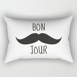 Moustache Bonjour Rectangular Pillow