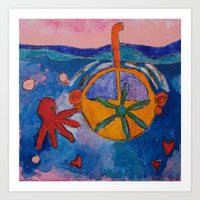 submarine Art Prints featuring Submarine by constanza briceno