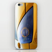 transformer iPhone & iPod Skins featuring The Eye Of A Transformer by VHS Photography
