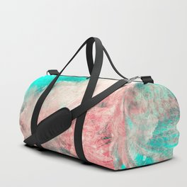 Teal and Peach Across the Universe Duffle Bag
