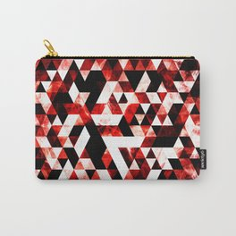 Triangle Geometric Vibrant Red Smoky Galaxy Carry-All Pouch