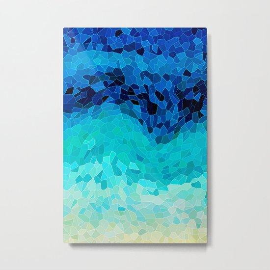 INVITE TO BLUE Metal Print