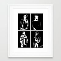 1975 Framed Art Prints featuring 1975. by Spazy Art