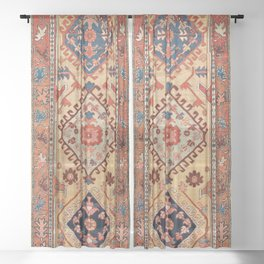 Bakhshaish Azerbaijan Northwest Persian Long Rug Print Sheer Curtain