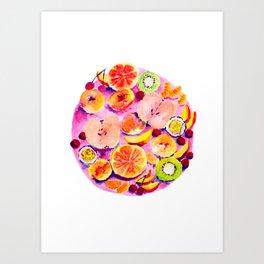 FRUIT PLATTER Art Print