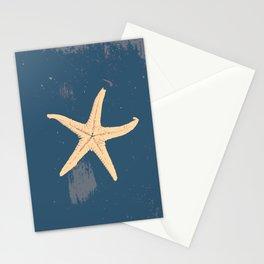 blue seashell Stationery Cards