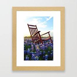 Bluebonnet Rocking Chair Framed Art Print