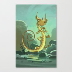 Goblins Drool, Fairies Rule! - Salamander Snoop Canvas Print