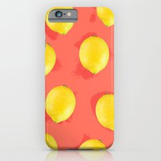 Watercolor Lemons iPhone 6 Slim Case