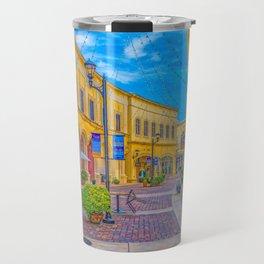 Street Scape in Yellow Travel Mug