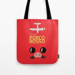 Porco Rosso - Hayao Miyazaki minimalist movie poster - Studio Ghibli, japanese animated film Tote Bag